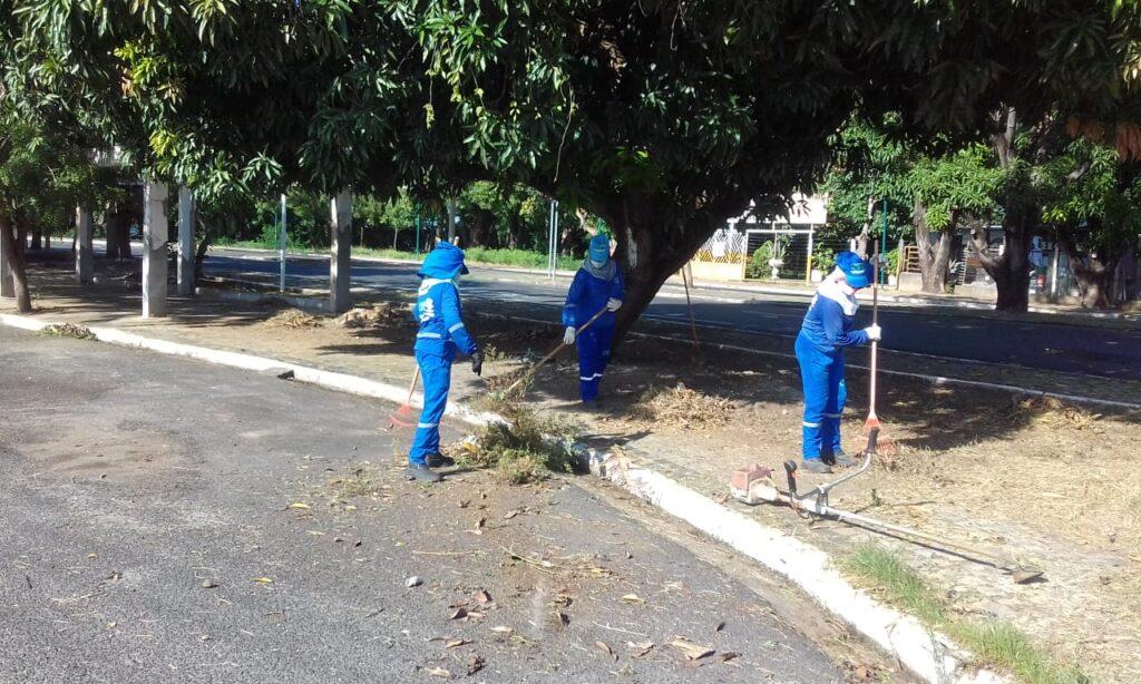 Segunda a Prefeitura de Teresina, cerca de 1.000 pessoas estão trabalhando na limpeza dos bairros da capital.